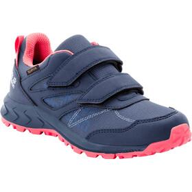 Jack Wolfskin Woodland Texapore VC Low Shoes Kids, niebieski/różowy